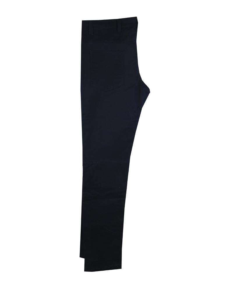 Black Cotton Twill Kevlar Motorcycle Pants