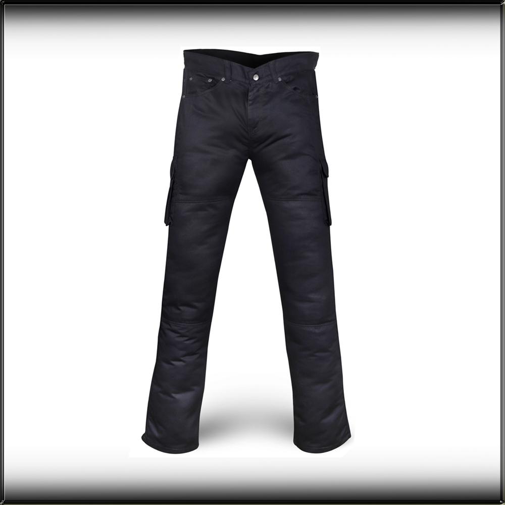 Black Cargo Kevlar Motorcycle Trousers